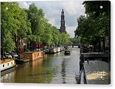 Picturesque Amsterdam Acrylic Print by Sophie Vigneault