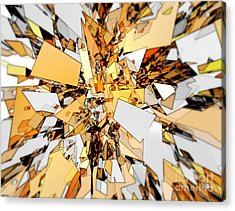 Acrylic Print featuring the digital art Pieces Of Gold by Phil Perkins