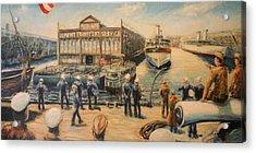 Pier 3  The Us Army Transport Service Acrylic Print by Daniel W Green