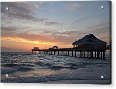 Pier 60 Clearwater Beach Florida Acrylic Print by Bill Cannon