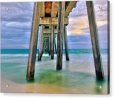 Acrylic Print featuring the photograph Pier  by Anna Rumiantseva