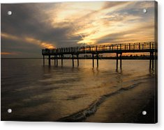 Acrylic Print featuring the photograph Pier  by Cindy Haggerty