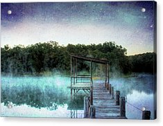 Pier In The Mist Acrylic Print