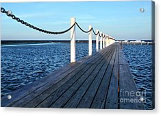Pier To The Ocean Acrylic Print by Kaye Menner