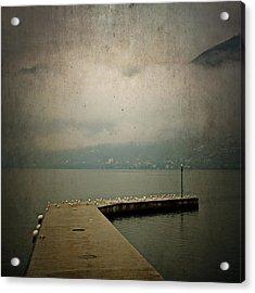 Pier With Seagulls Acrylic Print by Joana Kruse