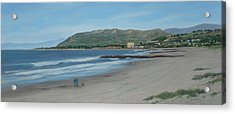 Pierpont Beach Afternoon Stroll Acrylic Print by Tina Obrien