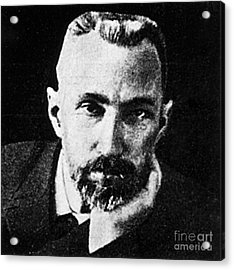 Pierre Curie, French Physicist Acrylic Print by Science Source