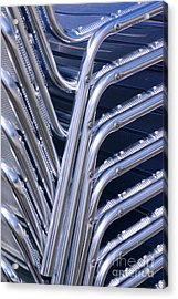 Pile Of Chairs Acrylic Print by Carlos Caetano