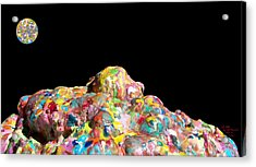 Pile Of Encaustic Color With A Wax Moon Two K O Four Acrylic Print by Carl Deaville