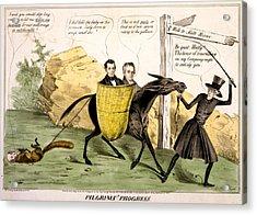 Pilgrims Progress, Showing Ex-president Acrylic Print by Everett