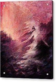 Pillar Of Salt Acrylic Print by Rachel Christine Nowicki