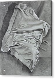 Acrylic Print featuring the drawing Pillow Talk by Patsy Sharpe