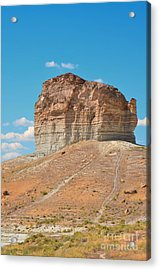 Pilot Butte Rock Formation II Acrylic Print by Donna Greene