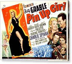 Pin-up Girl, Betty Grable, John Harvey Acrylic Print by Everett