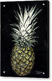 Pineapple Acrylic Print by Robert Goudreau