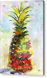 Pineapple Study Watercolor Acrylic Print by Ginette Callaway