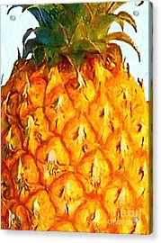 Pineapple Acrylic Print by Wingsdomain Art and Photography