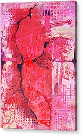 Pink Abstract Acrylic Print by Lolita Bronzini