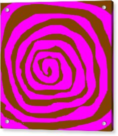 Pink And Brown Swirls Acrylic Print by Jeannie Atwater Jordan Allen