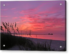 Pink And Purple Dawn Acrylic Print by Brian Wright