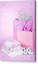 Pink Baby Shower Presents Acrylic Print by Elena Elisseeva
