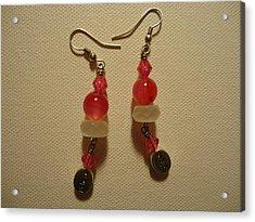 Pink Believer Earrings Acrylic Print