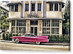 Acrylic Print featuring the photograph Pink Cadillac by Vicki DeVico
