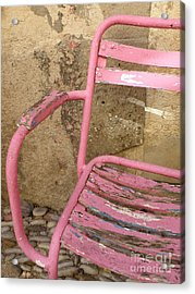Pink Chair Acrylic Print by Lainie Wrightson