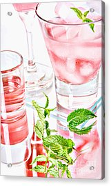 Pink Cocktails Acrylic Print