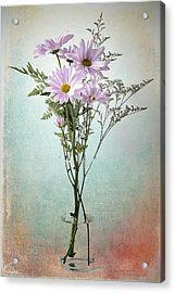 Acrylic Print featuring the photograph Pink Daisy by James Bethanis