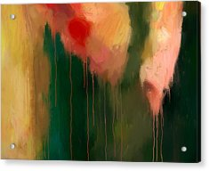 Pink Drips Acrylic Print by Michael Pickett