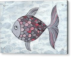 Pink Fish Acrylic Print by Georgiana Chitac