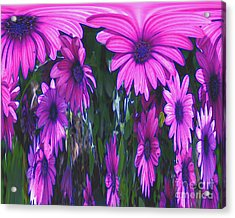 Pink Flower Power Acrylic Print by Smilin Eyes  Treasures