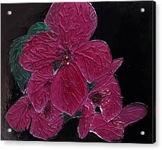 Pink Flowers Acrylic Print by Angela Stout