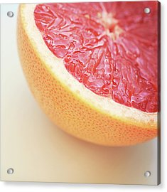 Pink Grapefruit Acrylic Print by Dhmig Photography