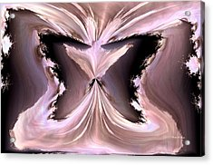 Pink Ice Acrylic Print by Maria Urso