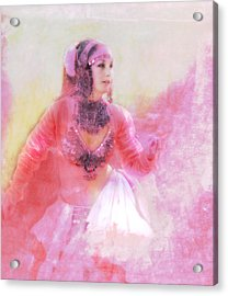 Pink Acrylic Print by Jeff Burgess