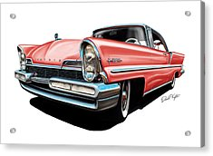 Pink Lincoln Premier  Acrylic Print by David Kyte