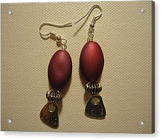 Pink Love Earrings Acrylic Print