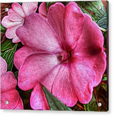 Pink Love Acrylic Print by Jeanean Gendron