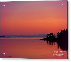 Pink Morn At Rock Point Acrylic Print by Gail Bridger