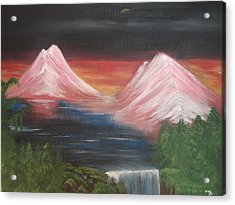 Pink Mountains Acrylic Print by Melanie Blankenship