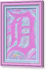 Pink Old English D Framed Acrylic Print by Donald Pavlica