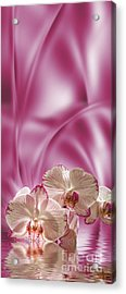 Acrylic Print featuring the digital art Pink Orchid by Johnny Hildingsson