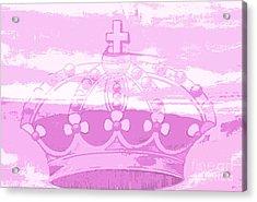 Pink Princess Crown Art Acrylic Print