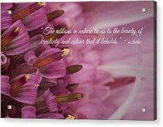 Pink Ribbons Acrylic Print