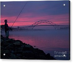Pink Skies In The Morn Acrylic Print by John Doble
