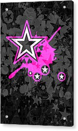 Pink Star 3 Of 6 Acrylic Print by Roseanne Jones