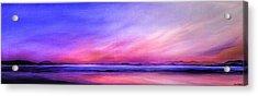 Pink Sunrise. Acrylic Print by Jan Farthing