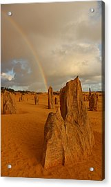 Pinnacle Rainbow Acrylic Print